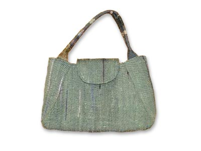 花咲き織りで作ったバッグ