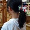 花咲き織りの新作「髪留め」完成しました
